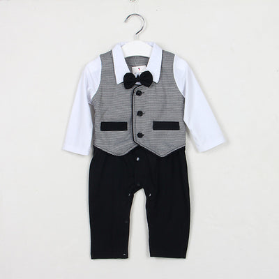 Baby boy clothes Autumn fashion Romper Gentleman modelling infant long sleeve Baby boys clothes kids baby boy suit