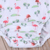 Red-crowned crane Baby Romper Newborn Infant Baby Girls Clothes Summer Sleeveless Ruffles Jumpsuit One Pieces Outfits Sunsuit