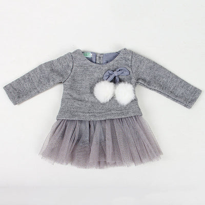 Autumn Winter Baby girls clothes long sleeve princess girls dress Ball of yarn Kids Clothes Children Party dresses