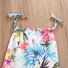 0-24M Newborn Baby Girl Romper Summer Sleeveless Belt Floral Jumpsuit Toddler Kids Girls Cotton Clothes Outfits Sun-suit