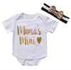 2Pcs/Set New Summer Newborn Baby Girl Boy Cotton mamas mini Romper Jumpsuit +Headband Outfits Clothes