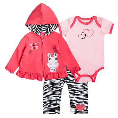 New Baby Boy Clothing Set 3pcs Suits Coat Bodysuit Pants Cotton Long Sleeve Winter Newborn Baby Girls Clothes Sets