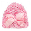 Colorful Baby Boy Girl Caps born Soft Cotton Bow-knot Hat Sweet Beanie Hollow Lace Kids Hats