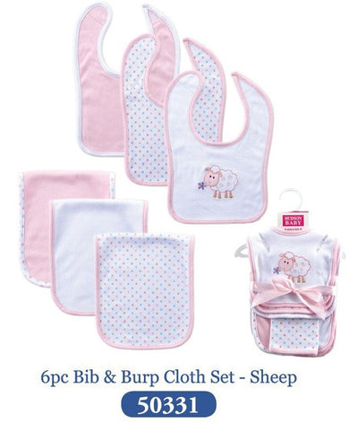 Baby Burp Cloths Unisex 5 Styles Lovely Embroidered Cotton Baby Bibs 6 Pieces