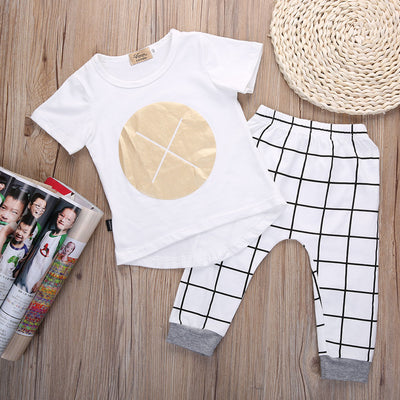 Baby Boys Clothing Set  Kids Tops Baby Boys Casual Clothes Organic T-shirt Pants Outfits Set