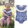 born Baby Girl Romper blue and white porcelain Romper Kids Jumpsuit Outfits Sun suit One Pieces