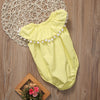 Summer Newborn Baby Girl Romper Sleeveless Yellow Tassel Jumpsuit Outfits Toddler Kids Sun suit Clothes