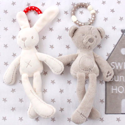 Cute Rabbit Kid Baby Boys and girls Soft Toys Rabbit Stuffed Toys White Best Gift