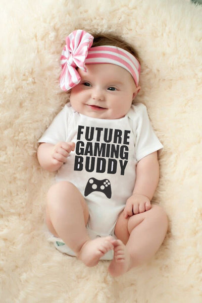 Summer Newborn Infant Baby Girl Boy Summer Romper Future Printed Jumpsuit Sunsuit Outfit
