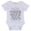 Summer born Baby Cotton Romper god loves me Printed Boy Girl Jumpsuit Kids Clothes Outfit