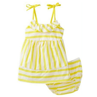 2Pcs Baby Kids Girl Clothing Set Summer Suspender Tank Tops+Strip Pants Outfits Set Summer Clothing