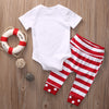 Summer Newborn Baby Boys Girls Clothes Short Sleeve Romper+ Striped Long Pants Outfit Set Cotton Clothes