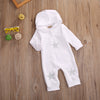 Summer Kids Toddler Baby Boy Girl Long Sleeve Romper Star Hooded Jumpsuit White Clothes Outfits