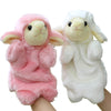 Animal Plush Kids Hand Puppets Childhood Soft Toy Sheep Shape Story Pretend Playing Dolls Gift for Children Pink White