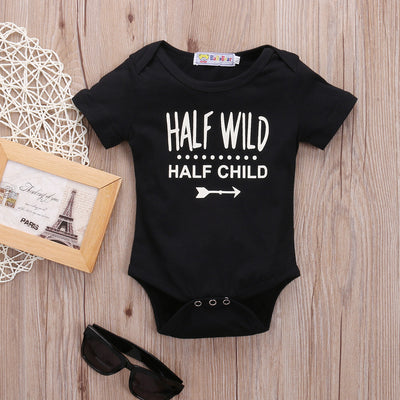 Half Wild Newborn Baby boys girls letter Bodysuits onesie Infant Babies Boy Girl Cute Cotton Bodysuit one-piece Outfits Clothing