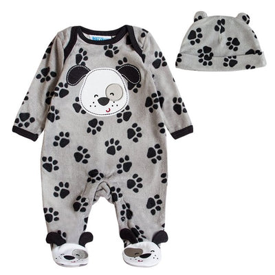 Autumn Winter Baby Clothes Flannel Baby Boy Clothes Cartoon Animal Girl Jumpsuit Rompers Clothing