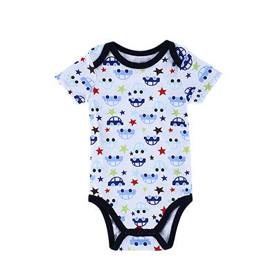 Baby Girls&Boys Costume Monkey Printed Infant Baby Bodysuit New Born Baby Clothes 25 Style