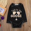 Baby Letter Talk to Me Printing Bodysuits born boys girls letters Bodysuits onesie Boy Girl Cotton Bodysuit one-pieces