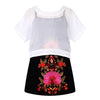 Girl Dress with Embroidered Flower Robe Princess Dress Knit Clothes Kids Costumes for Children