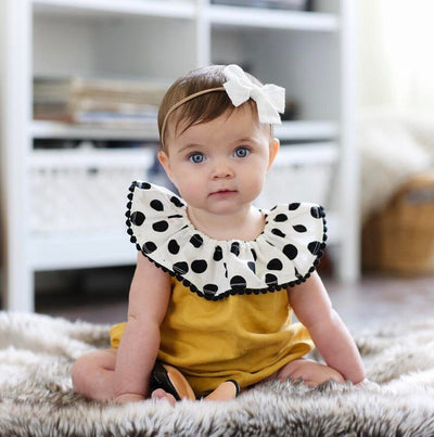 Summer Newborn Baby Romper Summer Princess Girls Polka Dot Sunsuit Outfits Toddler Kids Jumpsuit Cotton Clothes