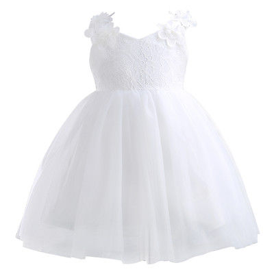 New Chic Lace Flower Girl Princess Party Bow Wedding Prom Dress Backless