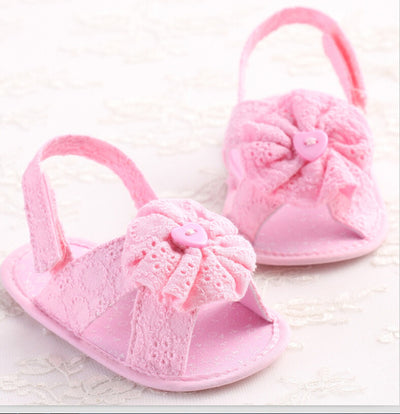 Baby Girl cloth Flower Shoes Crib First Walkers