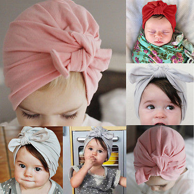 Newborn Baby Toddler Kid Boy Girl Bowknot Beanie Hat Cap Hair Accessories ( Bowknot need Bind by yourself)