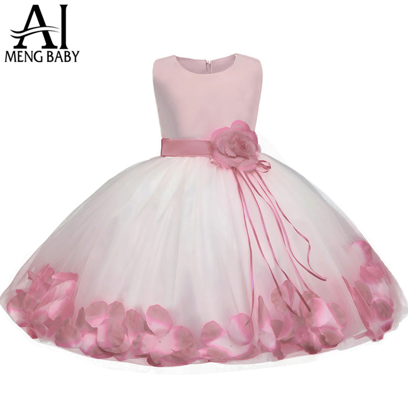 a85e62e9acb1f Flower Baby Girl Gown Baptism Clothes Newborn Baby Girl Dress Infant ...