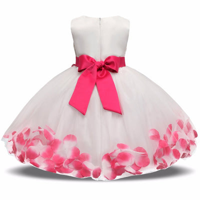 b4b54efa31466 Flower Baby Girl Gown Baptism Clothes Newborn Baby Girl Dress Infant Party  Dresses Wear
