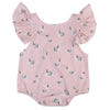 Summer born Infant Baby Boy Girl Swan Print Romper Butterfly sleeves Jumpsuit Clothes Sunsuit Outfit
