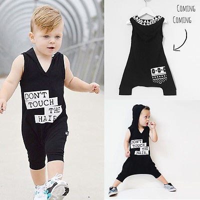 Summer Newborn Infant Baby Boys Clothes Hooded Cotton Touch Romper Jumpsuit Outfits