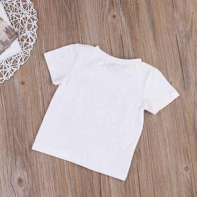 2-6T Summer Kid Boy Toddler Short Sleeve Tee Follow Letter Printed T-shirt Tops