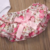 4Pcs/Set Newborn Baby Girls Letter Printed Cotton Romper + Pink Warm Legging+Floral Shorts + Headband Outfits Set Clothes