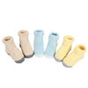 3Pair/lot Soft Cotton Baby Boy Girl Socks Infant Candy Color Solid Casual Socks Knitted Fabric Kids Socks