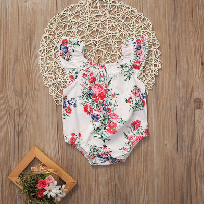 Summer Newborn Toddler Baby Girls Clothes Floral Romper Sleeveless Jumpsuit Sun suit Outfits