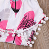 born Baby Girl Tassel Romper Jumpsuit +Headband Infant Clothes Outfit Sun suit