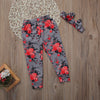 Summer Kid Baby Girl Infant Cotton Floral Toddler Trousers Leggings Pants + Headband Set