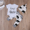 born Baby Boys Girls Kids Clothes Romper T-shirt Tops Long Pants Hat Outfits