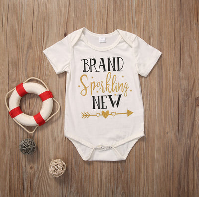 Baby Girl Boy Love Heart Romper Arrow Jumpsuit Toddler Summer Clothes Outfits
