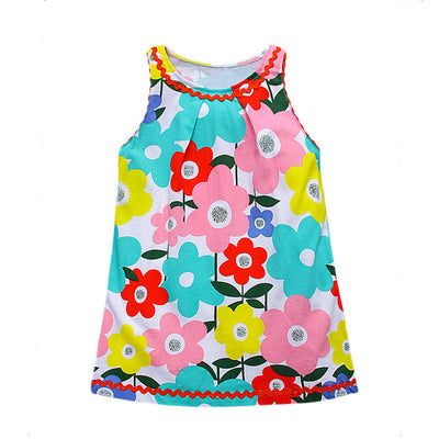Little Girls Dresses children Princess Dress Costumes for Kids Clothing flowers Print Cotton Girls Clothes