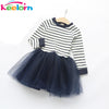 Autumn Girls Dress New Casual Style Girls Clothes Long Sleeve Striped Design Dress for Kids Clothes