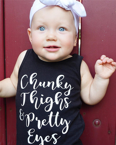 Summer Toddler Baby Girl Boys Romper Sleeveless Letter printed Jumpsuit Outfits Sunsuit Clothes Playsuit