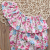 born Infant Toddler Baby Girl Off Shoulder Flora Cotton Romper Jumpsuit Sun suit Clothes Outfit