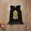 Summer born Baby Kids Girl Dress Sleeveless pineapple Dress Tassel Sundress Clothes 1-5Y