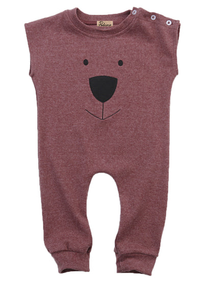 Newborn Baby Girls Boys Cartoon Bear Sleeveless Cotton Romper Play suits Jumpsuit 1 PCS Outfits Clothes