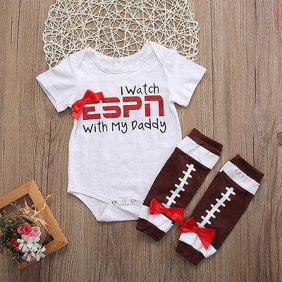 2pcs/Set Newborn Toddler Infant Baby Boy Girl Clothes Short Sleeve Romper +Warm Legging Outfits Set