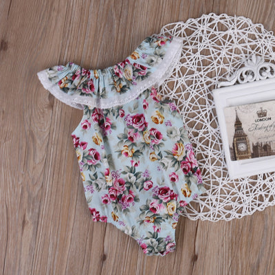 Summer Newborn Infant Baby Girl Floral Lace Romper Jumpsuit Outfit Sunsuit Clothes