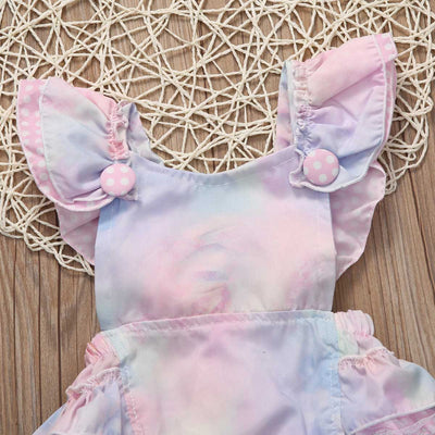 Colorful Sleeveless Newborn Baby Girls Floral Romper Bow knot Back cross Jumpsuit Sun suit Clothes Outfits Set