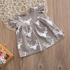 Summer Flower Girls Princess Dress Kids Baby Party Wedding Deer Dresses Clothes