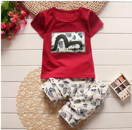 Baby Boy Clothes Summer Fashion Kids Boys Clothing Set Children Toddler Boys Clothing T-shirt  Pants Tracksuit